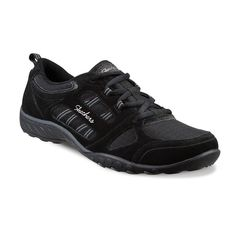 Skechers Relaxed Fit Breathe Easy Good Luck Women's Shoes, Size: 7.5, Grey (Charcoal)