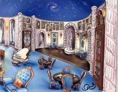 Ravenclaw Common Room, via The Common Room, on Facebook.