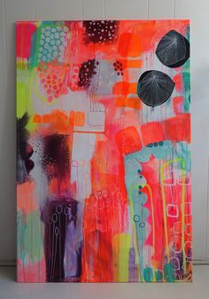 Colorful painting by Mette Lindberg www.mettesmaleri.dk