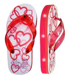 Hearts: FLIK FLOPS Light Up Flip-Flops