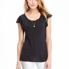 Flutter sleeve tees Brand new with tags if interested make me a offer Old Navy Tops