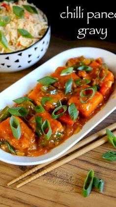 chilli paneer gravy recipe, paneer chilli gravy with step by step photo/video. indo chinese street food of india served mainly as side dish for fried rice. Indian Veg Recipes, Chilli Recipes, Indian Dessert Recipes, Indo Chinese Recipes, Mexican Rice Recipes, Korean Dessert, Chicken Recipes, Paneer Gravy Recipe, Chaat Recipe