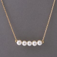 FASHION SWAROVSKI PEARL SILVER NECKLACE in yellow gold vermeil by kellinsilver