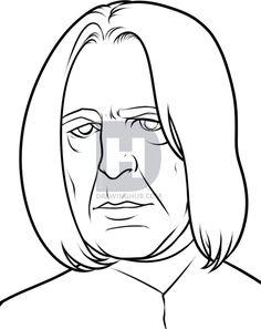 4c982f421 How to Draw Severus Snape Easy
