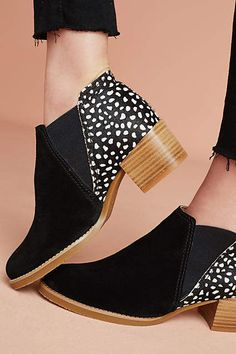 All Black Animal Print Booties #anthropologie #ad
