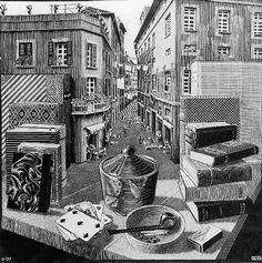 MC Escher - Still Life and Street
