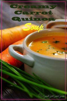 Since all this cold weather has arrived, I needed some healthy soups to add to my collection to stay warm. This is where my creamy carrot quinoa soup comes