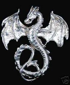 Fantasy Magic Savatage Dragon Pendant Charm Celtic Sterling Silver 925 Jewelry