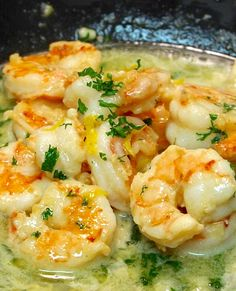 Shrimp Scampi~Olive Gardens recipe from their site~ - Food - Main Dishes - Shrimp Recipes Shrimp Dishes, Fish Dishes, Shrimp Recipes, Entree Recipes, Pasta Dishes, Fish Recipes, Pasta Recipes, Chicken Recipes, Dinner Recipes