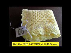 single crochet baby blanket for beginners - YouTube