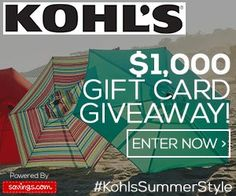 Kohl's Giveaway- Win a $50 Gift Card!