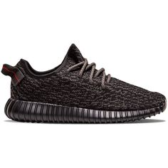 """adidas Yeezy Boost 350 """"Pirate Black"""" (2016) ❤ liked on Polyvore featuring sneakers"""