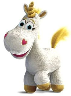 Buttercup (voiced by Jeff Garlin) is a white toy unicorn who is one of Bonnie's toys in Toy Story Trivia Toy Story Toons, Toy Story 3, Toy Story Party, Cumple Toy Story, Festa Toy Story, Disney Toys, Disney Pixar, Toy Story Pictures, Desenho Toy Story