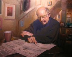 The Times by F. Michael Wood - Oil (I've not seen any artist paint such expressive faces as this man; just wonderful.