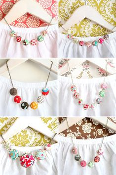 Floral Fabric Necklaces, by Tamar of Nest Pretty Things
