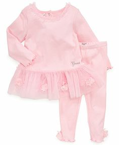 GUESS Baby Set, Baby Girls 2-Piece Embellished Dress and Leggings