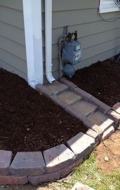 Yard drainage - 50 Amazing Drainage Garden Look Better Outdoor Landscaping, Front Yard Landscaping, Backyard Patio, Outdoor Gardens, Landscaping Borders, Landscaping Tips, Landscaping Around House, Corner Landscaping Ideas, Mobile Home Landscaping