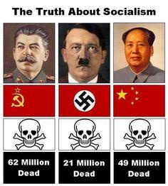Stalin, Hitler and Chairman Mao.