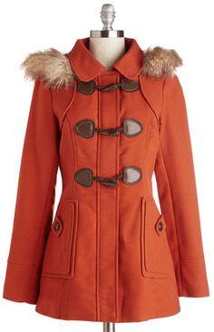 Plus Size Coat in Vermillion