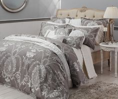 (http://www.mylinen.com.au/cameo-french-grey-quilt-doona-cover-set-davinci/) LOVE this but at $409.95 for a king I can only dream