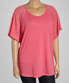 Look what I found on #zulily! Fuchsia Burnout Raglan Top - Women & Plus by TROO #zulilyfinds