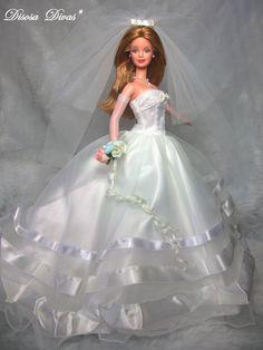 "Barbie"" by DsDivas Barbie Bridal, Barbie Wedding Dress, Wedding Doll, Barbie Gowns, Barbie Dress, Bridal Dresses, Doll Dresses, Vintage Barbie Kleidung, Vintage Barbie Clothes"