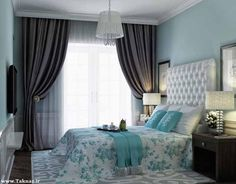 These bedroom paint ideas can make the most of your resting nest. Available interior designs are complemented with suitable colors to create more comfort. Trendy Bedroom, Modern Bedroom, Bedroom Decor, Best Bedroom Colors, Bedroom Paint Colors, Azul Tiffany, My New Room, Beautiful Bedrooms, Interior Design Living Room