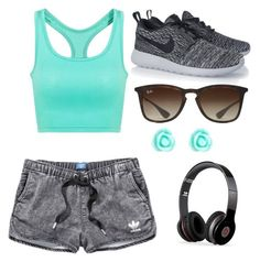 """""""Simply sporty"""" by ginaseaman on Polyvore featuring adidas, NIKE, Beats by Dr. Dre, Ray-Ban and Monsoon"""