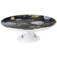Ted Baker Rosie Lee Footed Cake Stand - Black (€105) ❤ liked on Polyvore featuring home, kitchen & dining, serveware, black, black serveware, black cake stands, black cake pedestal, footed cake stand and ted baker