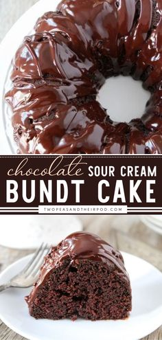 """"""" If you are looking for fool-proof, swoon-worthy, and easy Mother's day dessert, then make this Chocolate Sour Cream Bundt Cake! This chocolate cake from scratch is perfect for any celebration. It's the best chocolate dessert ever!"""" Amazing Chocolate Cake Recipe, Best Chocolate Cake, Chocolate Recipes, Easy Moist Chocolate Cake, Mini Chocolate Bundt Cake Recipe, Chocolate Sour Cream Cake, Best Homemade Chocolate Cake Recipe, Chocolate Drizzle Cake, Homemade Chocolates"""