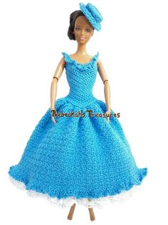 Elegant Blue Gown by Rebeckah's Treasures - newsletter freebie for subscribers.  The set is not finished yet, but I can see it will be beautiful.  I'm sooooooo excited!