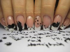 Nail art - cat design with paw prints!