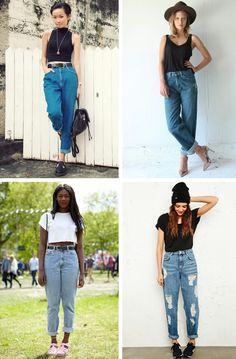 Мом джинсы с чем носить