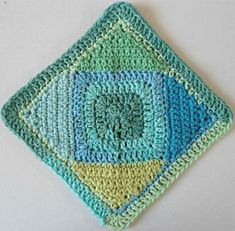 Square on point - dishcloth crochet granny square pattern,  $$$ Maggie's Crochet