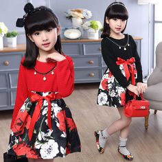 Printemps Automne Filles Robe A-ligne À Manches Longues Kinderkleding Meisjes Caprices O-cou Vê A Line Prom Dresses, Quinceanera Dresses, Girls Dresses, Stylish Kids Fashion, Kids Clothes Sale, Sewing Doll Clothes, Girl Falling, Baby Girl Fashion, Baby Dress