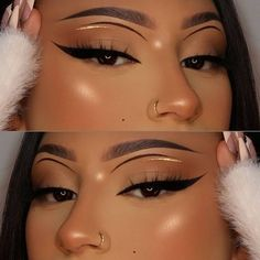 Glam Makeup Look, Makeup Eye Looks, Full Face Makeup, Natural Makeup Looks, Pretty Makeup, Beauty Makeup, Hair Makeup, Long Lasting Eyeliner, Long Lasting Makeup