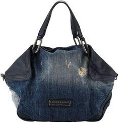 Liebeskind Atlas Distressed Denim Satchel Bag, Washed Blue on shopstyle.com