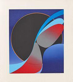 Komposisjon Fargeserigrafi, 69/100, 68x58 cm Sculptures, Fine Art, Abstract, Artwork, Prints, Photography, Painting, Summary, Work Of Art