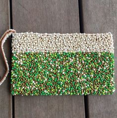 Beaded Evening Clutch from Kenya A masterpiece of finely detailed bead work perfect for Day or Evening. Fair Trade and Hand crafted.