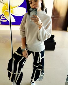 Deborah S in Toulon Trousers.  http://www.toteme-nyc.com/shop/ss16/toulon-trousers