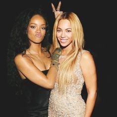 RIRI AND B. #Queens #Rihanna #beyonce                                                                                                                                                     Más