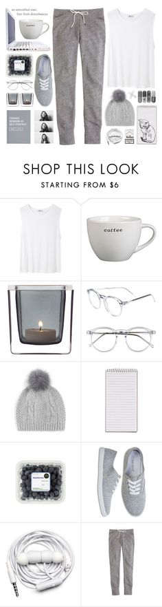 """""""grey 02.21"""" by yexyka ❤ liked on Polyvore featuring DUO, T By Alexander Wang, Crate and Barrel, Leonardo, Wildfox, Helene Berman, KEEP ME, Urbanears and J.Crew"""