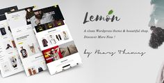 Lemon Homepage Examples  Lemon is the dynamic responsive WordPress theme that can fit in any type of website you are building. It has the flexible and fully responsive design so as to adju...