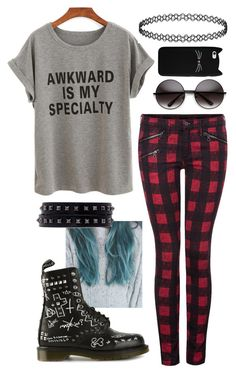 """""""Untitled #86"""" by fangirl-trash ❤ liked on Polyvore featuring Dex, Dr. Martens and Valentino"""