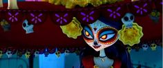 La Muerte from the Book of Life. Maybe I should paint my face like this for Halloween.