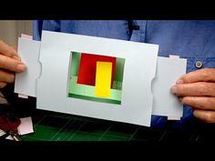 Pop-Up explained! Arte Pop Up, Pop Up Art, Origami Templates, Card Templates, Fancy Fold Cards, Folded Cards, Pop Up Tutorial, Tarjetas Pop Up, Up Animation