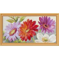 """Global Gallery 'Beautiful Array' by Nel Whatmore Framed Painting Print on Canvas Size: 22"""" H x 40"""" W x 1.5"""" D"""