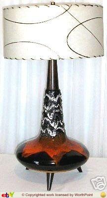 LOVE this Maurice Chalvignac lamp, with the original shade, tripod feet!