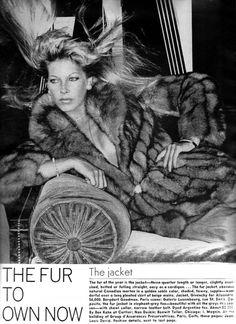 Vogue Editorial October 1973 - Gunilla Lindblad by Helmut Newton Hair Stylist: Jean-Louis David