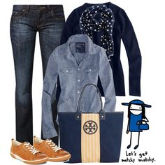 """Blues"" by luv2shopmom on Polyvore"